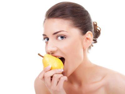 låt frukt (päron tex) bli ett mellanmål och undvik blodsockerfall