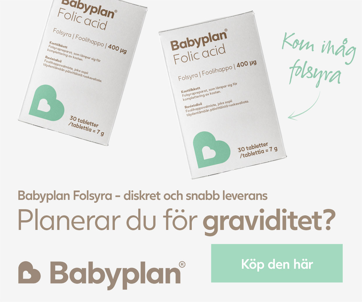 Köp folsyra för gravida kvinnor här